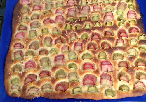 Rabarberplaatbrood